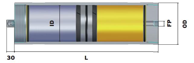 akumulator tłokowy wymiar