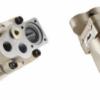 pompa tłoczkowa skośna dwustrumieniowa HPTD żeliwna DIN, 300 bar, wieloklin, 53+53, 56+26