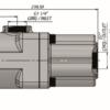 Pompa tłoczkowa prosta, dwukierunkowa, ISO, klin, 350bar, 20-60L wymiary