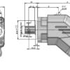 Pompa tłoczkowa skośna, aluminiowa, dwukierunkowa, ISO, wieloklinowy, 350-250bar, 23-125L wymiary