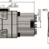 Pompa tłoczkowa prosta, dwukierunkowa, ISO, wieloklinowy, 270 bar, 60-80L wymiary