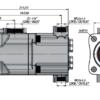 Pompa tłoczkowa prosta,dwustrumieniowa, ISO, wieloklinowy 250bar, 20+20, 26+26, 34+18, 26+14 wymiary